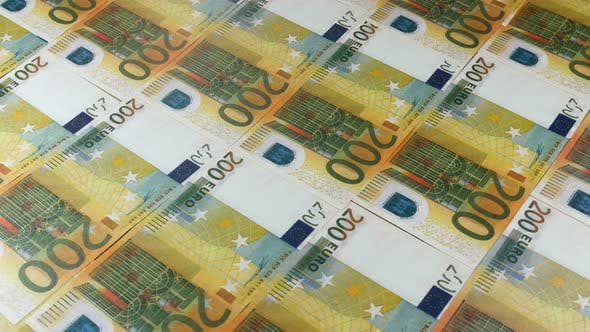 Euro Currency In Print