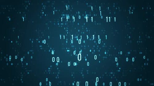 Binary Digits Data Abstract Background