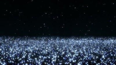 Blue Sparkling Particles