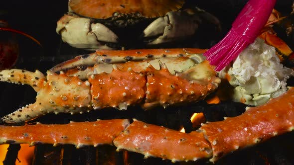Thumbnail for King Crab Legs on the Grill with Butter