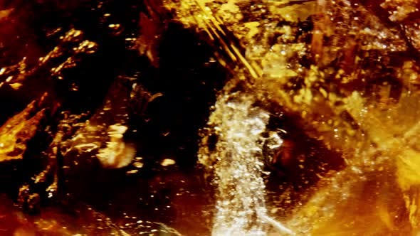 Thumbnail for Amber. Beautiful Colored Pieces of Amber. Amber Texture. Red-yellow Amber with Bubbles, Waves