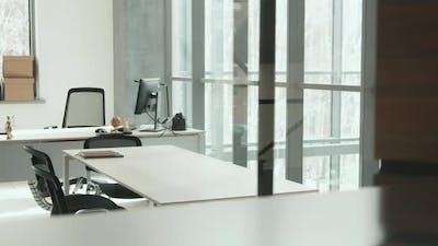 Minimalist Office Room Interior