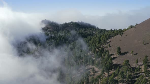 Aerial View of Volcanic Landscape In La Palma Island
