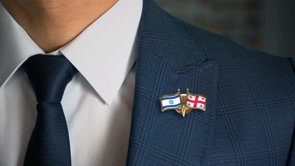 Thumbnail for Businessman Friend Flags Pin Israel Georgia