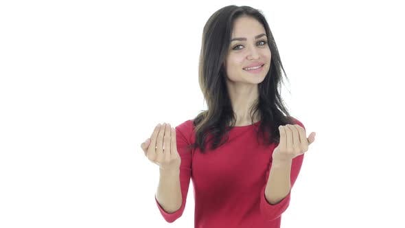 Thumbnail for Inviting Gesture by Woman
