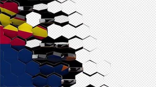Arizona Flag Hexagon Transition - 4K Resolution