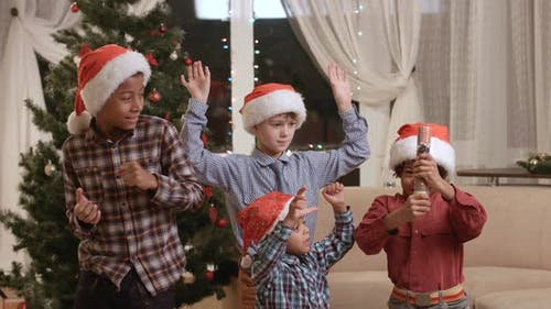 Afro Boy Twisting Christmas Petard