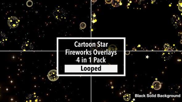 Thumbnail for Cartoon Star Fireworks Overlays Pack