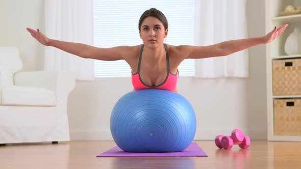 Thumbnail for Healthy woman exercising