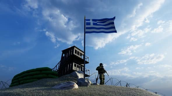 Thumbnail for A Soldier Protecting the Guard on the Border of Greece