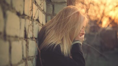 Upset Young Woman Crying