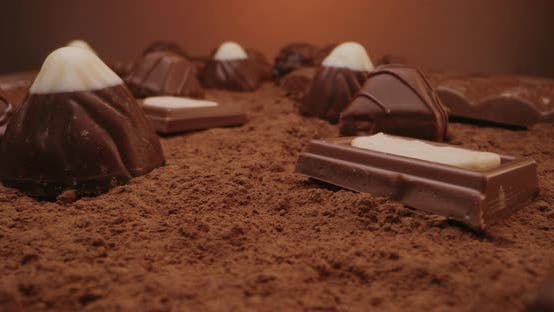 Confectionery Spread on Cocoa Powder