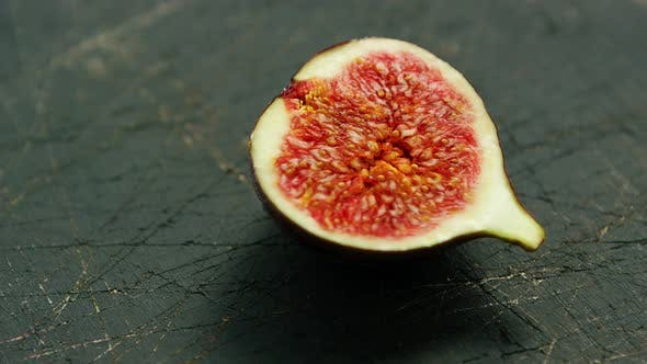 Thumbnail for Half of Fig with Red Flesh