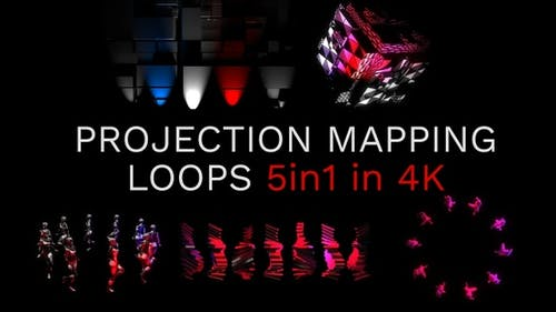 Projection Mapping Loops 4K 5in1