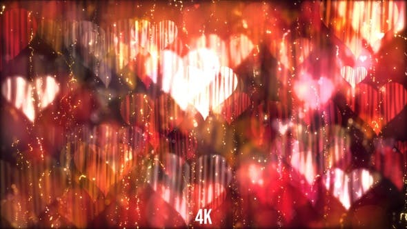 Thumbnail for Red Valentines Heart Background