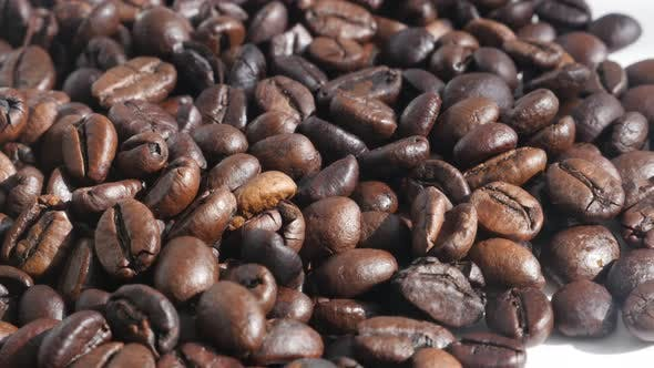 Thumbnail for Roasted coffee beans close-up 4K footage