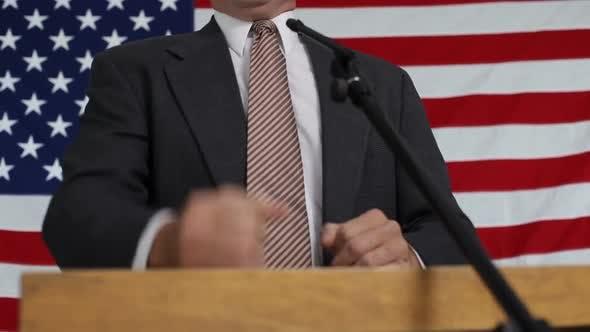 Thumbnail for Political podium, rack focus