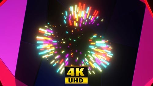 Vj Loop Music Neon Background 4K