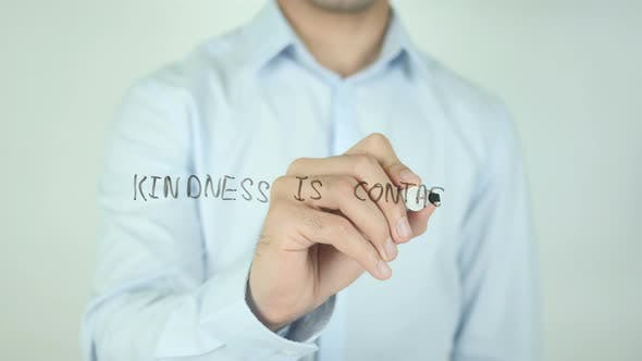 Kindness Is Contagious, Writing On Screen