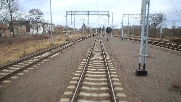 Thumbnail for Railroad Track Running Through Coutry Landscapes