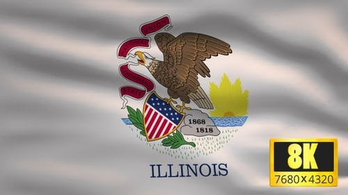 8K Illinois State Flag Background
