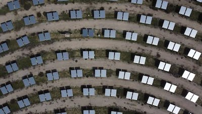Aerial Drone Solar Panel System