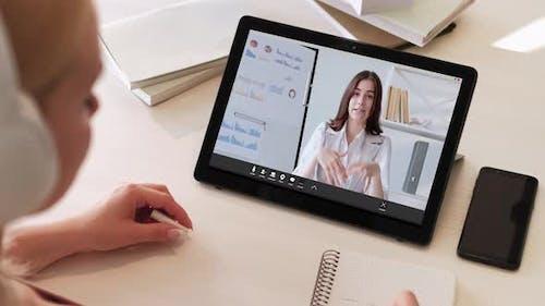 Videochat Online-Bildung