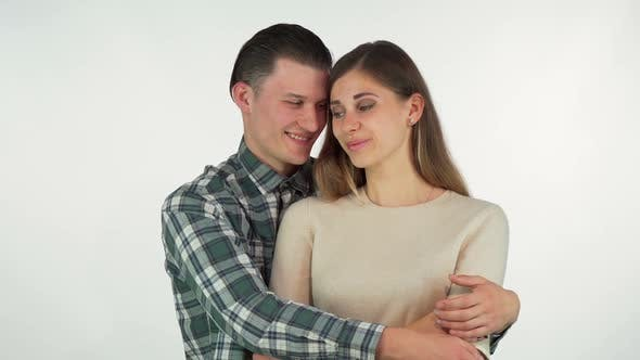 Thumbnail for Happy Handsome Man Hugging His Beautiful Girlfriend