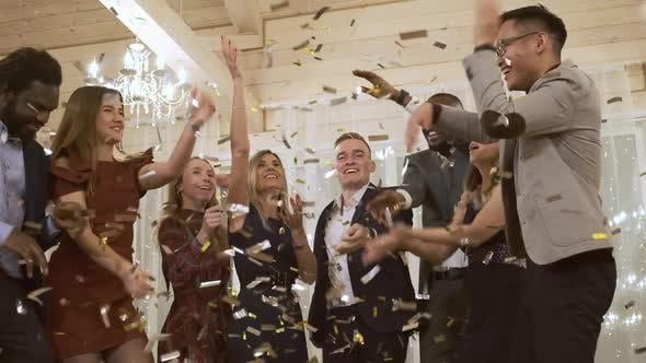 Thumbnail for Happy Company Dances To Golden Confetti