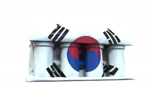 Deflating Bank Government Building Flag South Korea
