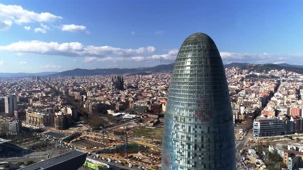 Cover Image for Agbar Tower, Barcelona Skyline