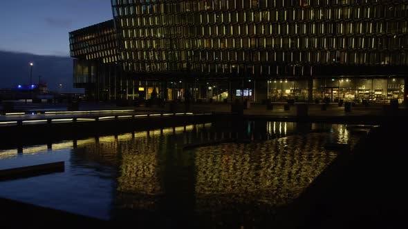 Thumbnail for Galeria de Harpa bei Nacht, Zeitraffer