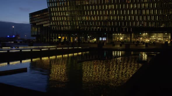 Galeria De Harpa at Night, Timelapse