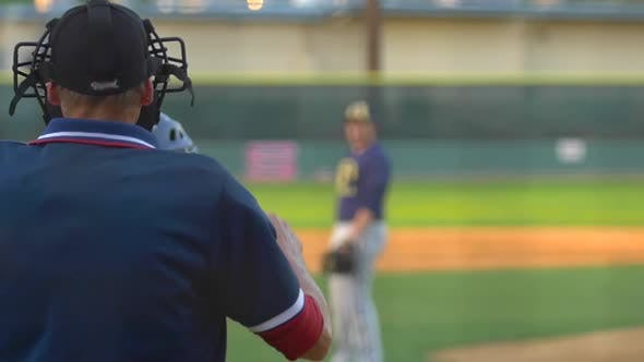 Thumbnail for The umpire at a baseball game makes a call.
