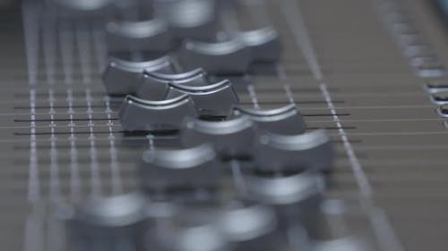 Sound mixer's faders