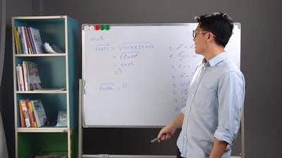 Teacher Teaching At Home