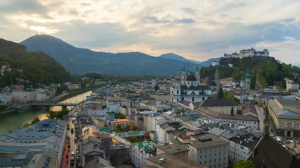 Thumbnail for Cityscape and Salzach river