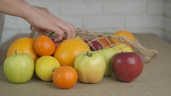 Eco Market with Fruits