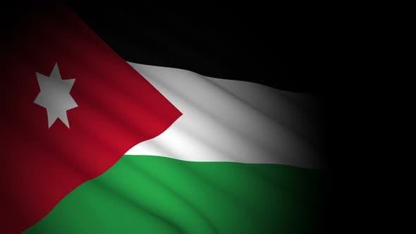 Jordan Flag Blowing in Wind