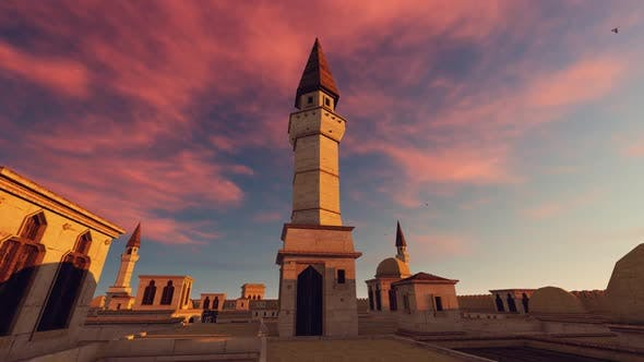 Cover Image for Mosque And Time-Lapse Sky