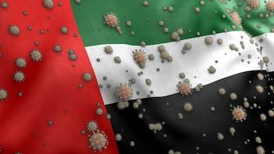 Covid UAE Flag / Corona UAE Flag