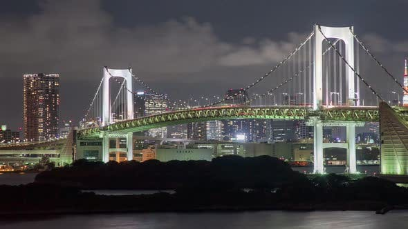 Thumbnail for Night Time Lapse Tokyo Rainbow Bridge