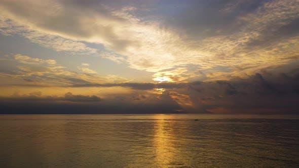 Thumbnail for Panoramic Dramatic Sunrise, Sky and Tropical Sea.