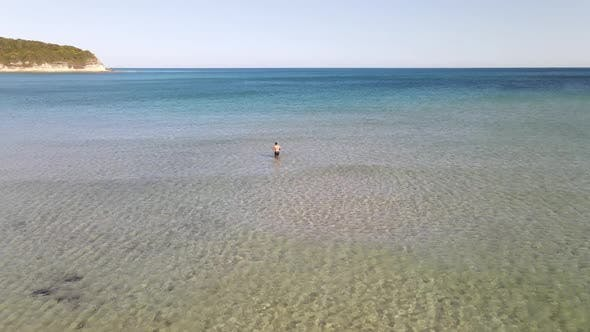 Swimming Holiday Aerial Drone