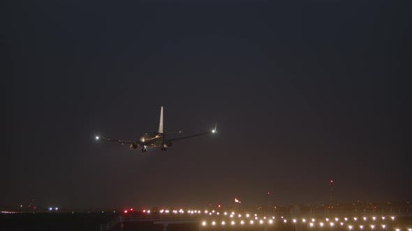 Thumbnail for Aircraft Landing at Night