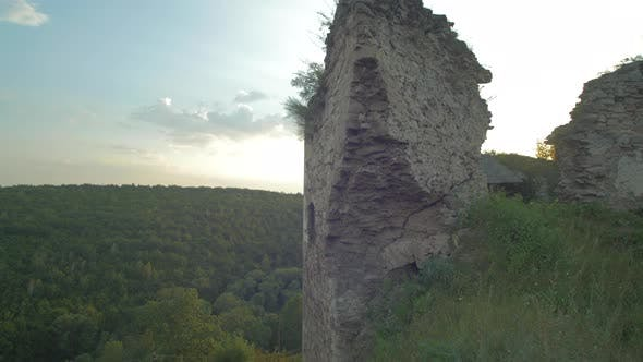 Thumbnail for Damaged wall on a hill