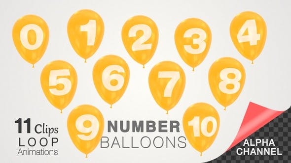 Thumbnail for Number Balloons