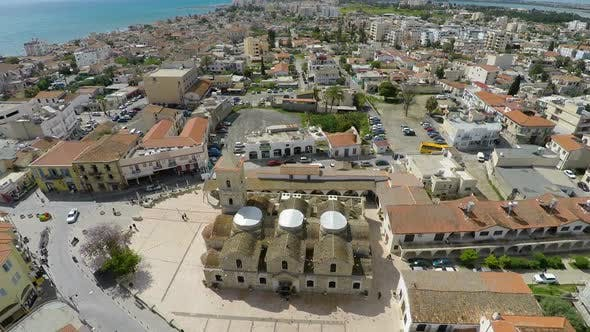 Thumbnail for Flying Over Larnaca City Center, Cyprus. Aerial View of Saint Lazarus Church