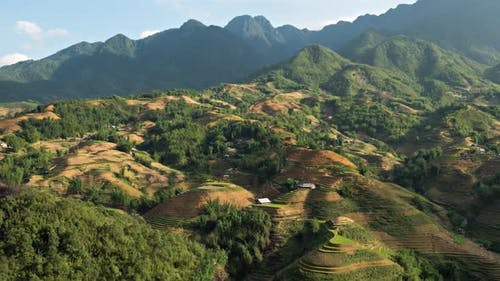 Time Lapse Terraced Rice Paddies In Northern Vietnam