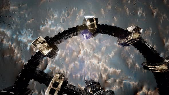Thumbnail for Surveyor Spacecraft Above Mars